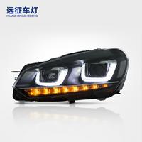 适用于大众高尔夫大灯 LED改装大灯总成 远征车灯